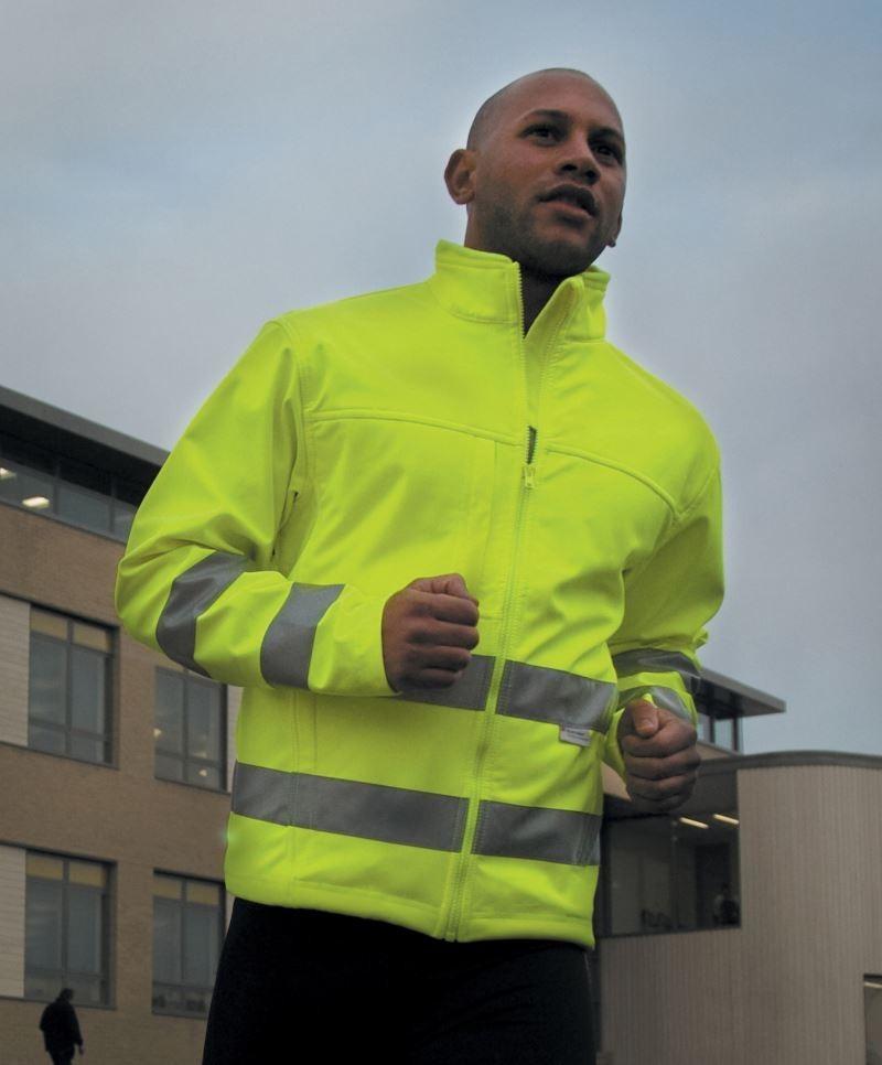 4b00c21c0b Result jól láthatósági dzseki High-Viz Soft Shell Jacket 345 fluo sárga