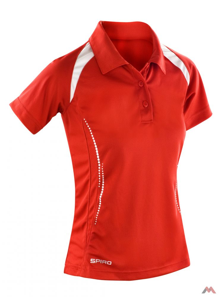 49590d9527 Spiro galléros női póló Team Spirit 145 piros-fehér