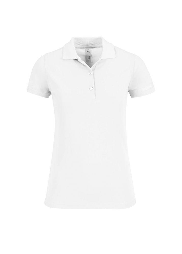 c1b0cdc1b8ed B&C galléros női póló Safran Timeless 180 fehér