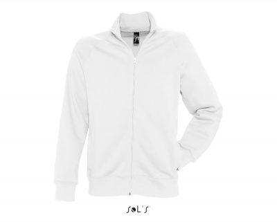 Fehér cipzáros pulóver