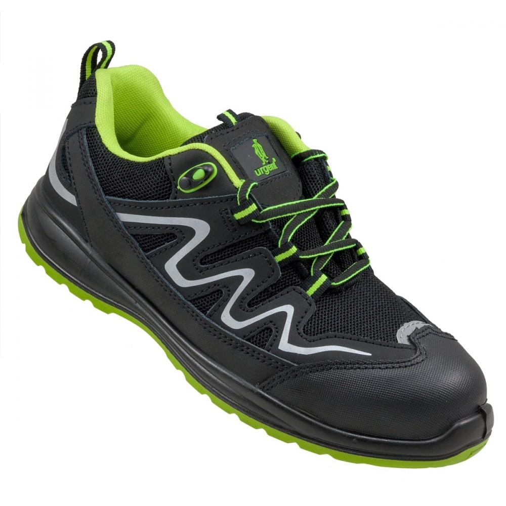 5129d69d0008 Urgent munkavédelmi cipő Lime S1 fekete-zöld