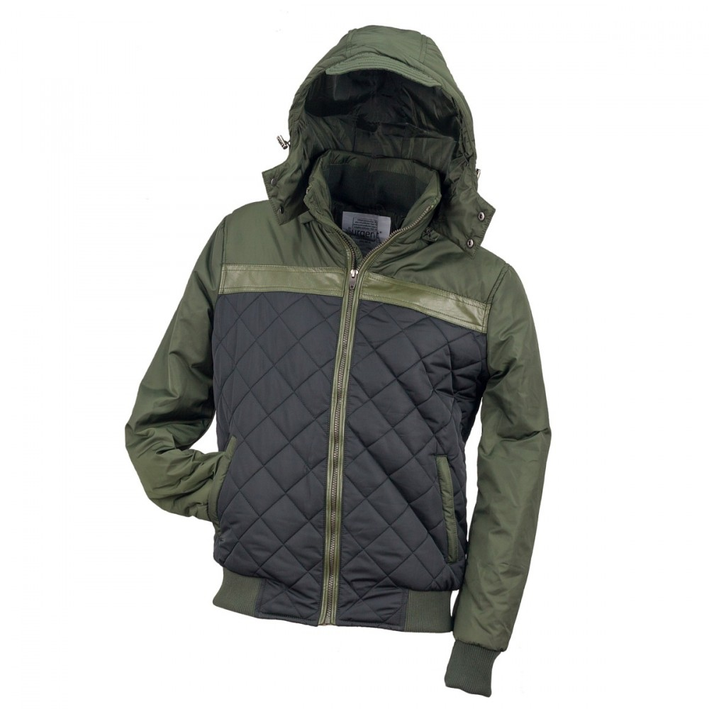 Urgent zöld bélelt kabát 004840e937