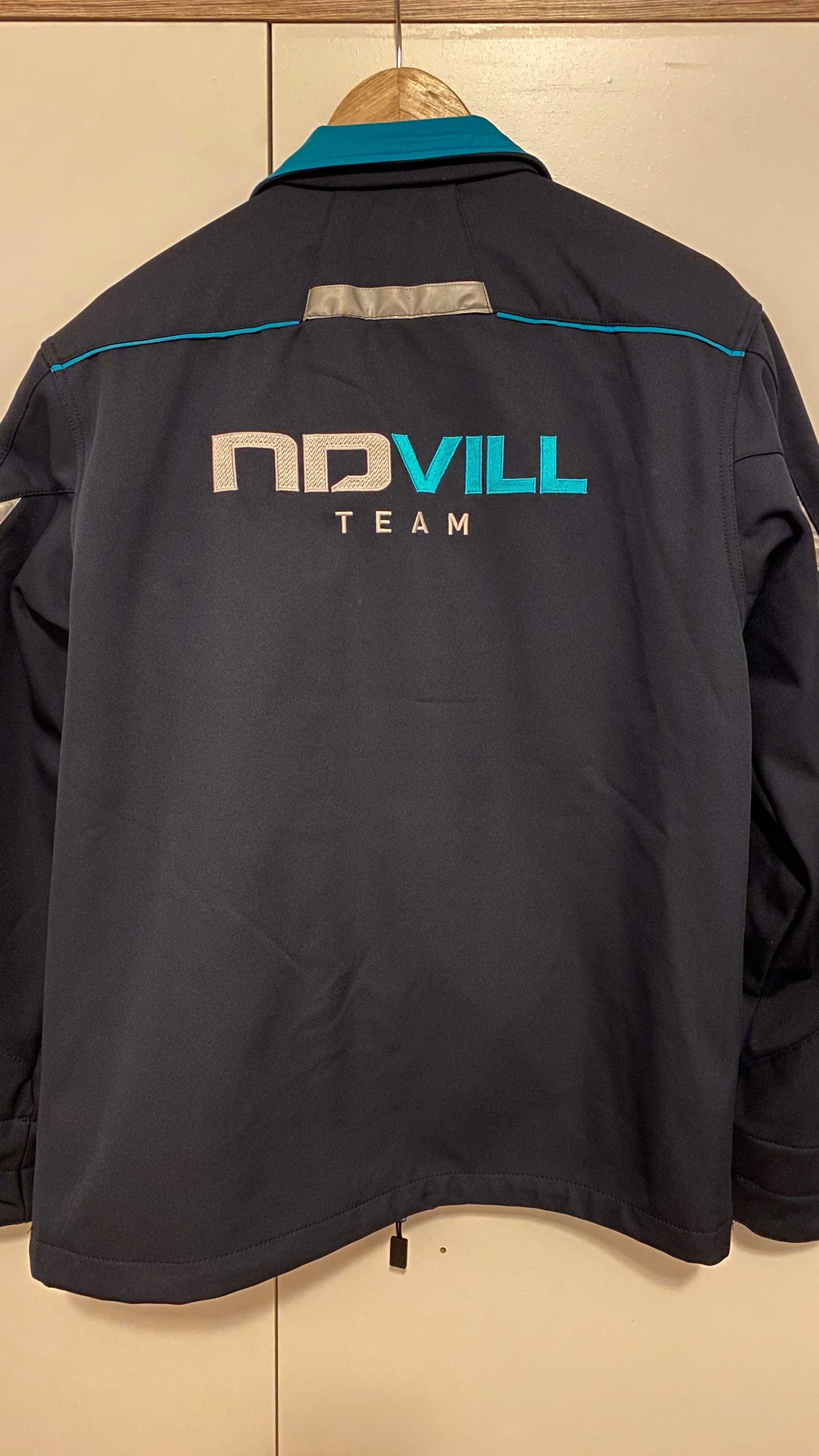 NDVILL Team softshell dzseki hátul