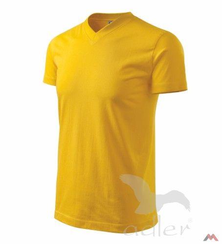 Adler póló V-nyakú 200 sárga AKCIÓ