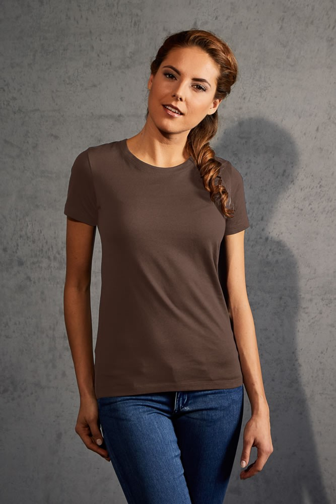 Promodoro női póló Premium T 180 barna