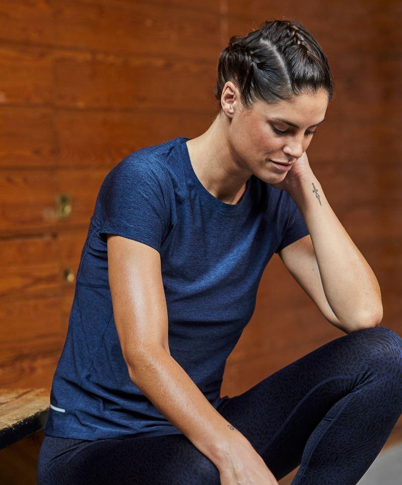 Tee Jays női póló Cooldry Sport 160 melírozott tengerkék