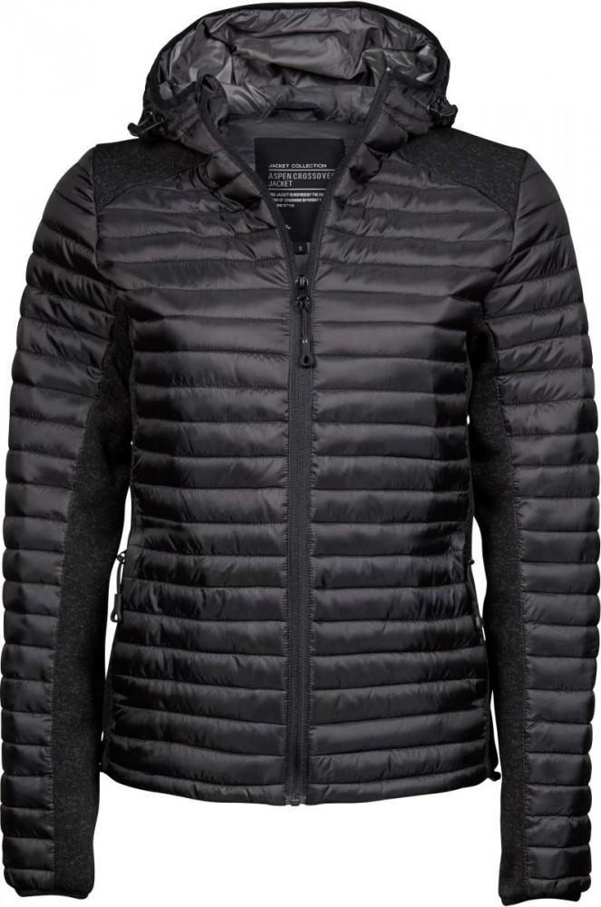 Tee Jays bélelt női dzseki Outdoor Crossover fekete-melírozott fekete