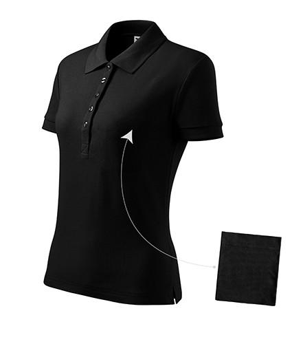 Adler/Malfini galléros női póló Cotton 170 fekete