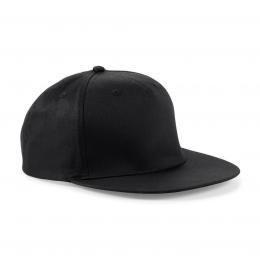 Beechfield baseball sapka Snapback Rapper 5P fekete