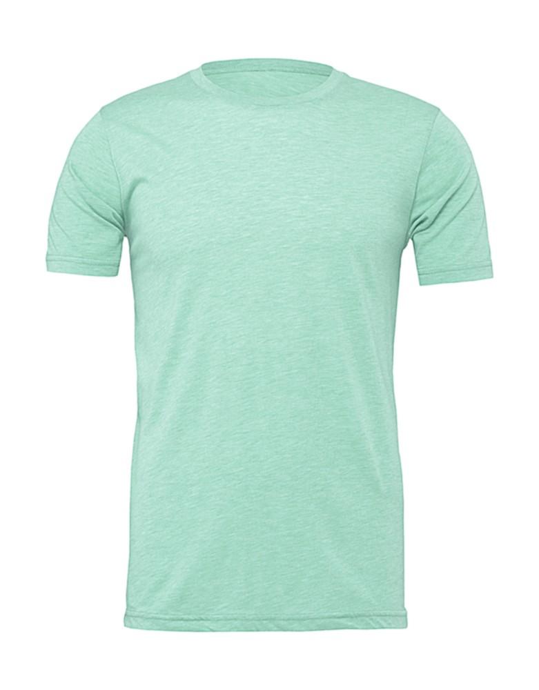 Bella+Canvas rövid ujjú Unisex póló Short Sleeve Tee 142 melírozott világoszöld