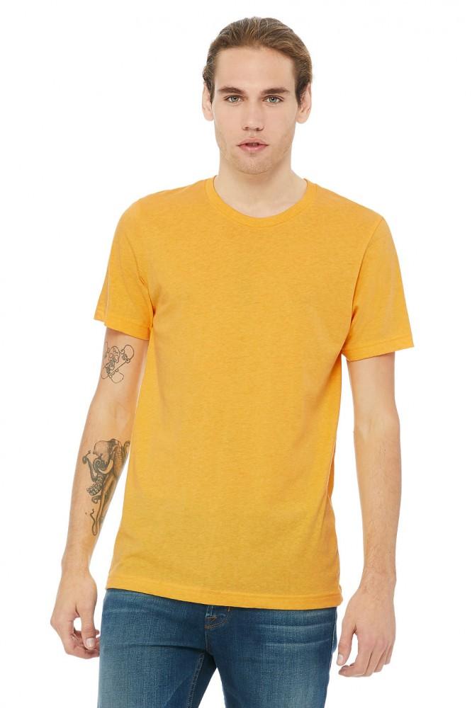 Bella+Canvas rövid ujjú Unisex póló Short Sleeve Tee 142 melírozott aranysárga