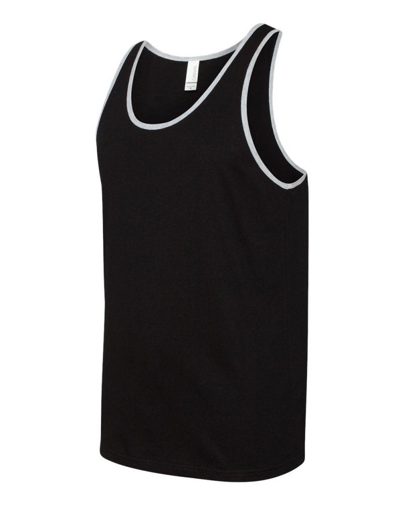 Bella+Canvas Unisex Jersey trikó 145 fekete-szürke
