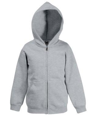 Fruit gyerek pulóver Classic Kids Hooded Sweat Jacket 280 melírozott szürke