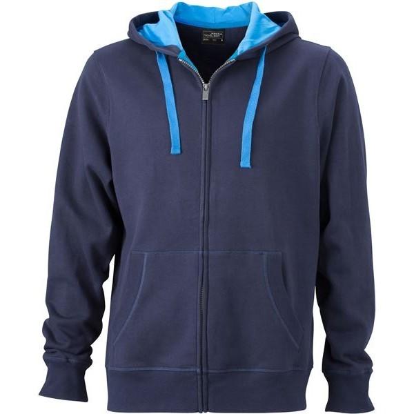 James&Nicholson pulóver Hooded 310 tengerkék-kobalt