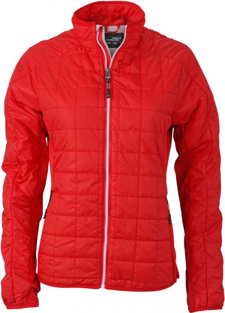 James&Nicholson női bélelt dzseki Hybrid világos piros-ezüst