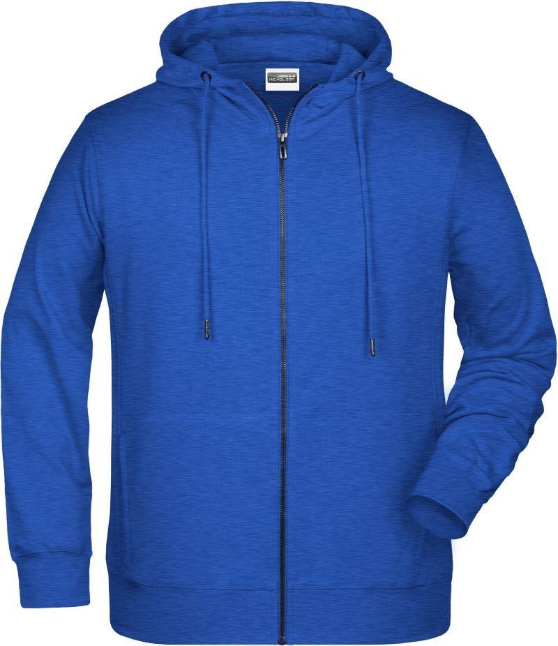 James&Nicholson pulóver Hooded Sweat Jacket 300 melírozott tinta