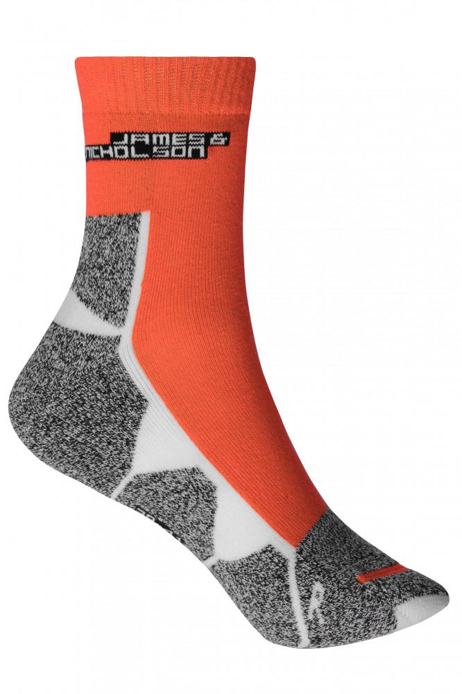 James&Nicholson zokni Sport világos narancs-fehér