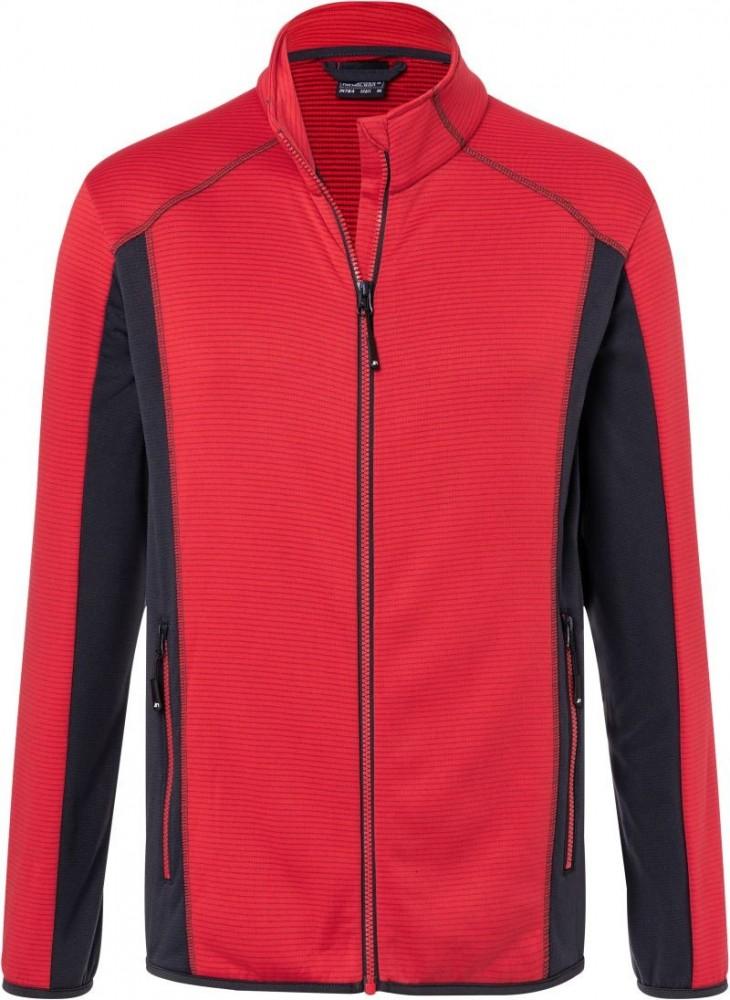 James&Nicholson sport felső Stretch 200 piros-grafit