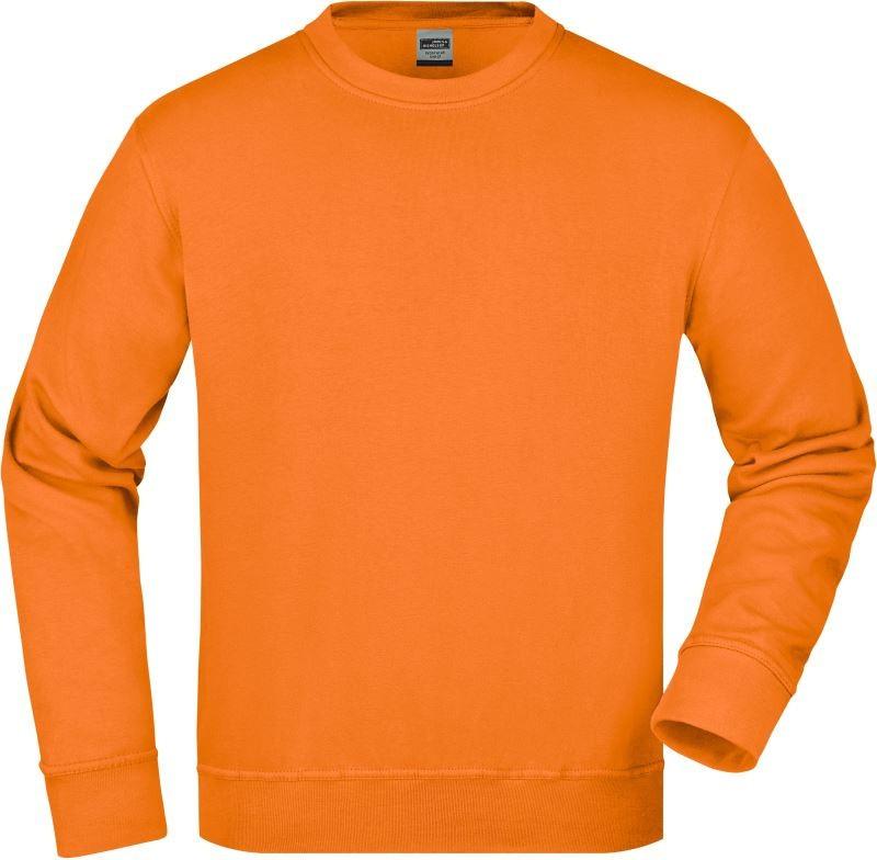 James&Nicholson pulóver Workwear Sweat 290 narancs