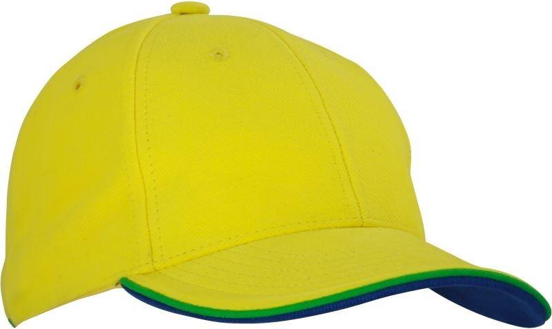Myrtle Beach baseball sapka Double Sandwich 6P sárga-zöld-királykék