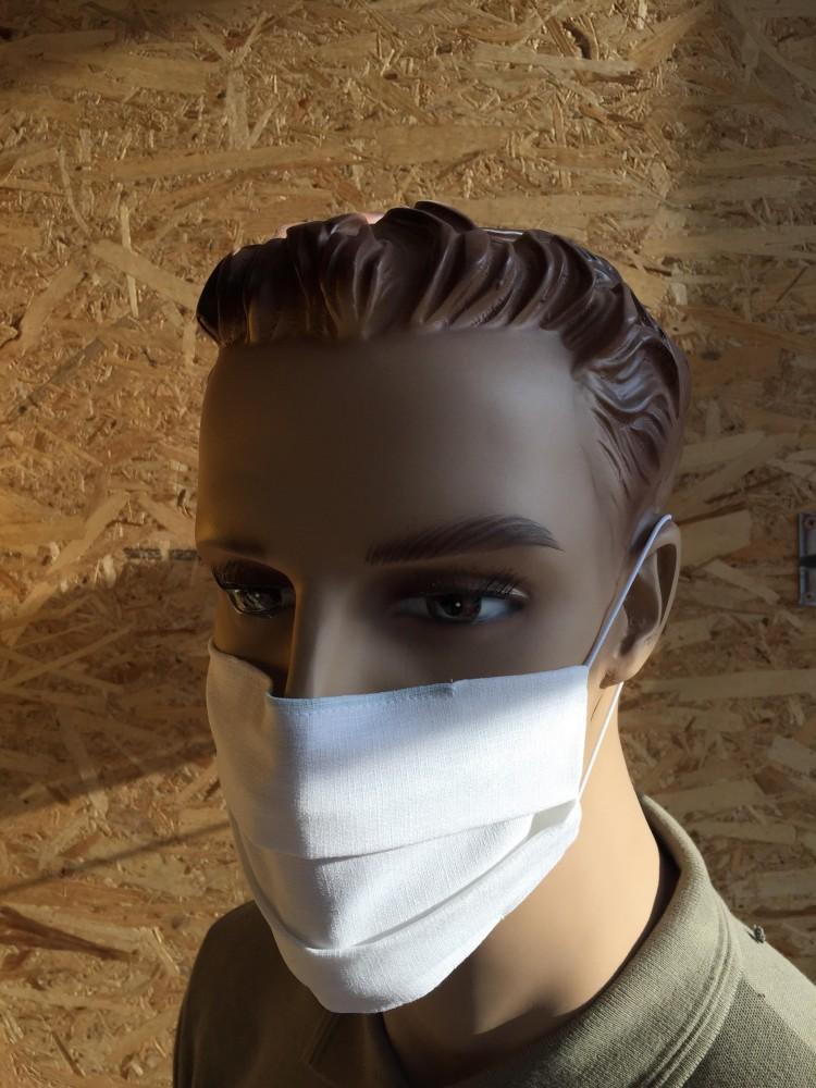 MD kétrétegű textil szájmaszk, 95°C fokon mosható fehér 1.000 db/csomag