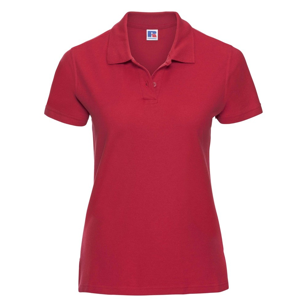 Russell galléros női póló Ultimate Piqué 215 piros